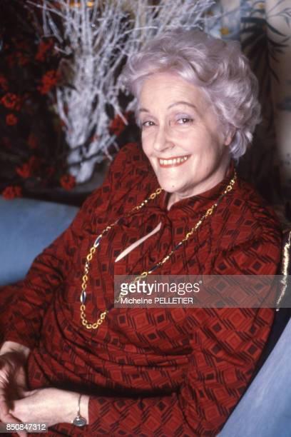 L'écrivain française Juliette Benzoni à Paris le 04 janvier 1983 France