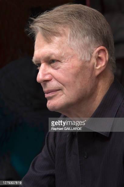 """écrivain Jean-Marie Gustave Le Clézio lors du festival""""'Etonnants Voyageurs"""" le 19 mai 2018 à Saint-Malo, France."""