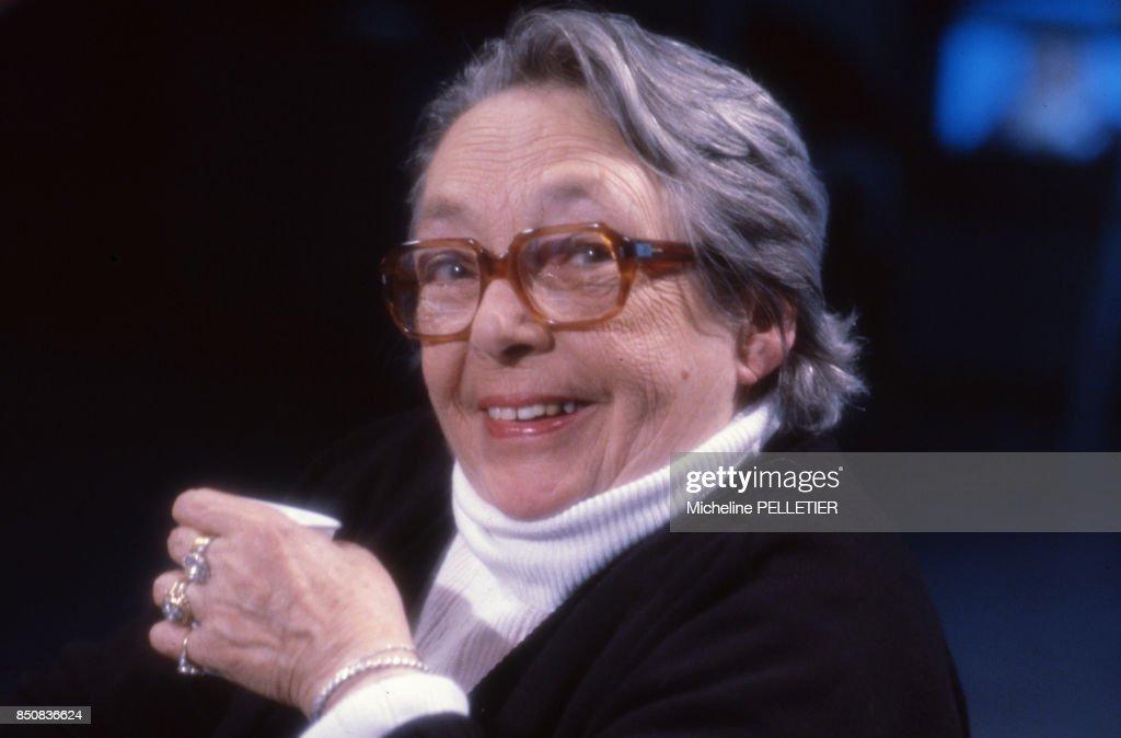 Portrait de Marguerite Duras en 985 : News Photo