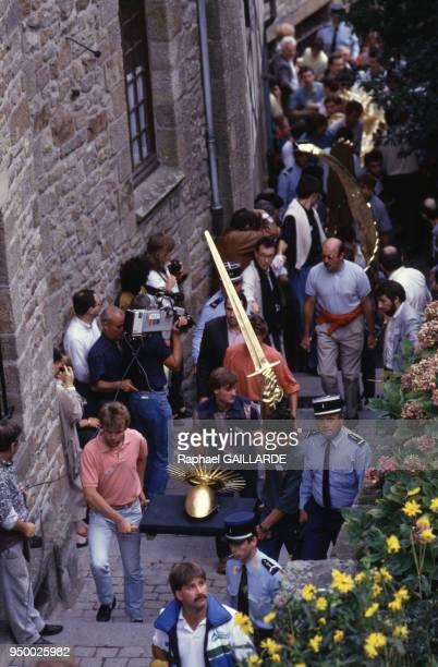 Cérémonie de l'archange le 4 octobre 1987 au MontSaintMichel en France