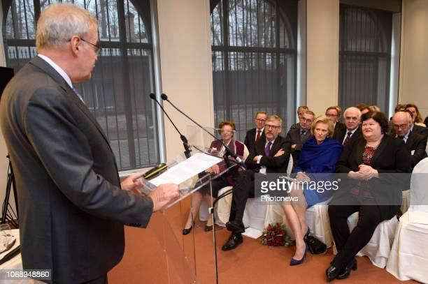 Cérémonie de remise du premier prix Generet à la Fondation Roi Baudouin en présence de la princesse Astrid Uitreiking van de Eerste Prijs Generet in...
