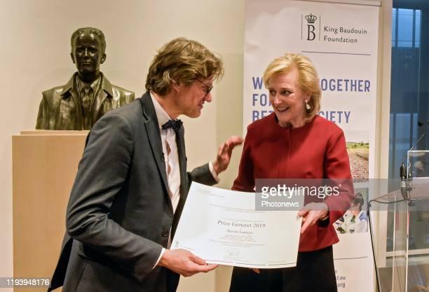 Cérémonie de remise du Prix Generet pour les maladies rares Uitreiking van de Prijs Generet voor zeldzame ziekten * Steven Laureys ** Prinses Astrid...