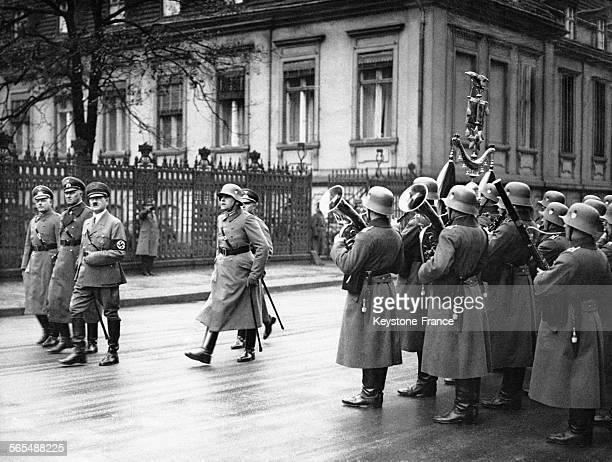 Cérémonie des voeux de la Wehrmacht à Hitler le 1er janvier 1935 en Allemagne
