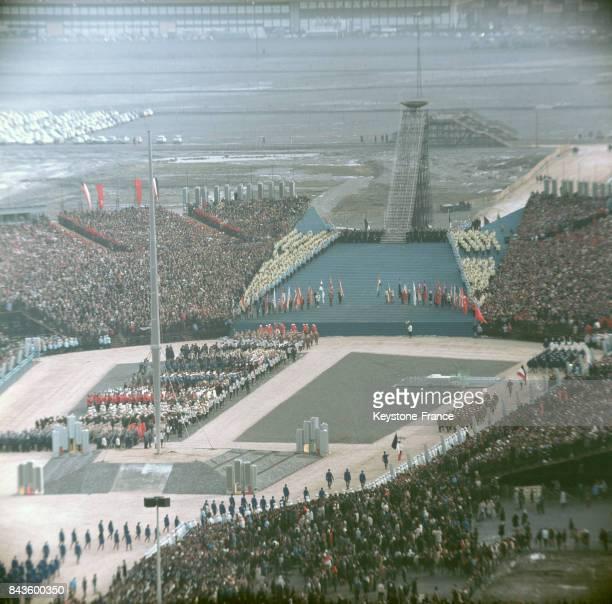 Cérémonie d'ouverture des Jeux olympiques à Grenoble France en 1968