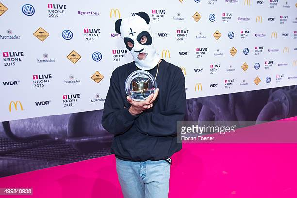 Cro attends the 1Live Krone 2015 at Jahrhunderthalle on December 3 2015 in Bochum Germany