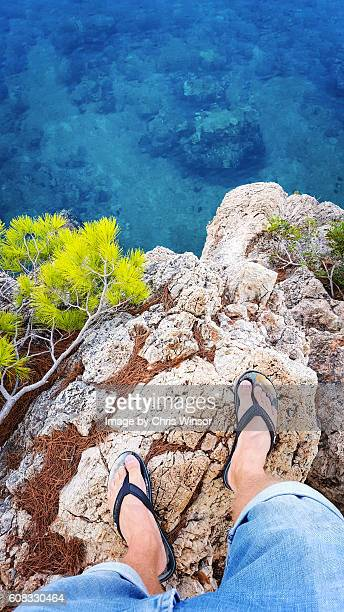 croatia cliff view - adriatic sea stock pictures, royalty-free photos & images