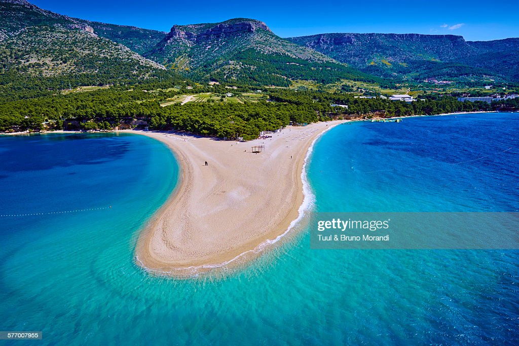 Croatia Dalmatia Brac Island Zlatni Rat Beach