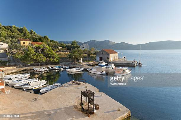 Croatia, Dalmatia, Harbour of Mala Rava with view of Dugi Otok Island