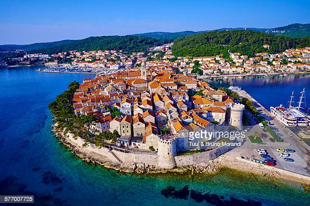 croatia, dalmatia, korcula - croatia stock pictures, royalty-free photos & images