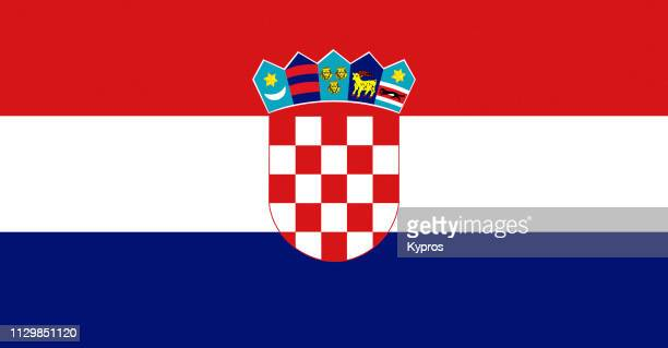croatia flag - croacia fotografías e imágenes de stock