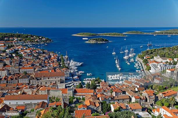 Croatia, Hvar Island, Hvar and harbour
