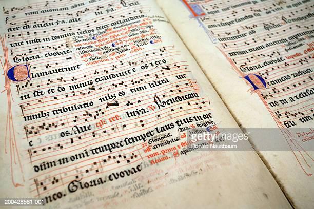 Croatia, Hvar, Stari Grad, 15th Century Latin musical manuscript