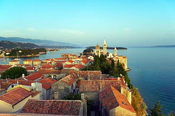 Croatia, Isle of Rab, elevated view