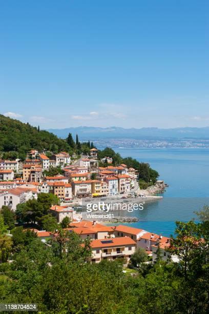 croatia, istria, adria, kvarner gulf, moscenicka draga - baia foto e immagini stock