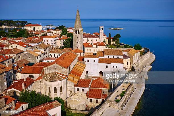 croatia, istria, porec, euphrasian basilica - basilica stock pictures, royalty-free photos & images