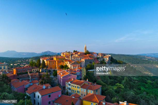 Croatia, Istria, view to Labin from above