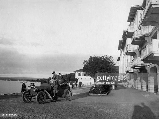 Croatia Istrien Istria Car ride at the island Brioni in the Adriatic Sea Photographer Kühn Hitz Published by 'Die Dame' 20/1923 Vintage property of...