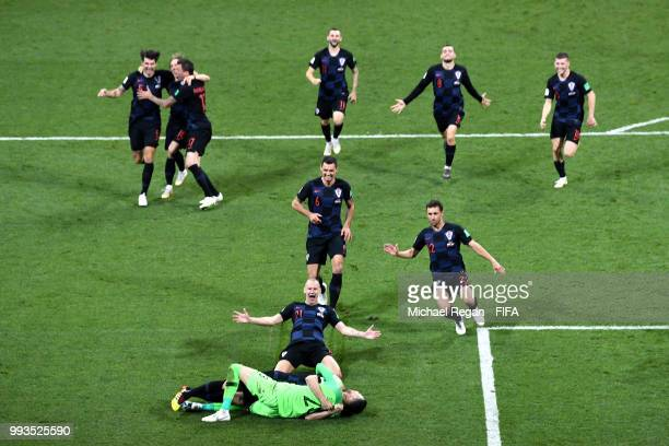 Luca Modric of Croatia during the 2018 FIFA World Cup Russia Quarter Final match between Winner Game 51 and Winner Game 52 at Fisht Stadium on July 7...