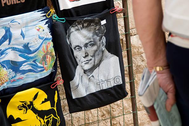 Croatia, Porec, selling the Tito image