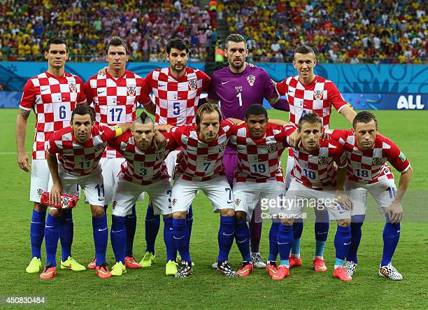 883d7a7bbbc Croatia pose for a team photo prior to the 2014 FIFA World Cup Brazil Group  A