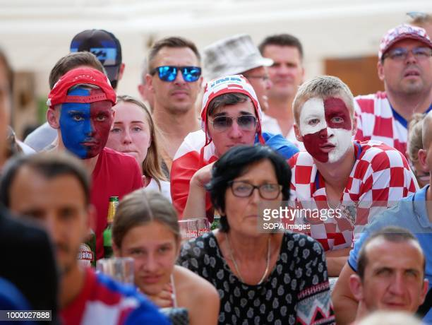 Croatia supporters seen watching the match Croatians in the Island of Pag watched the world cup football final match Croatia vs France Croatia lost...