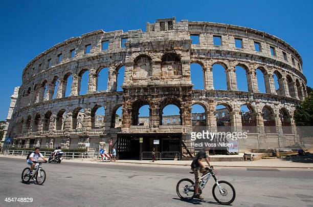 Croatia: The Pula Arena. Roman amphitheatre located in Pula, Istria. The Arena was constructed between 27 BC and 68 AD and is among the six largest...
