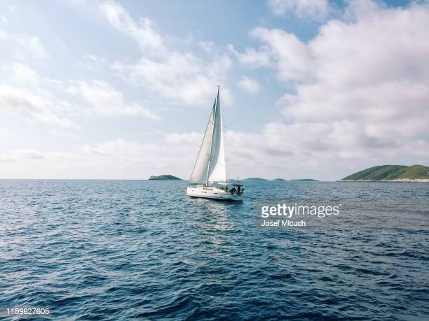 croatia yacht - sailing stock pictures, royalty-free photos & images
