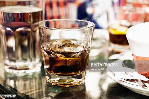 Croatia, Zadar, Beverages on table in coffee bar