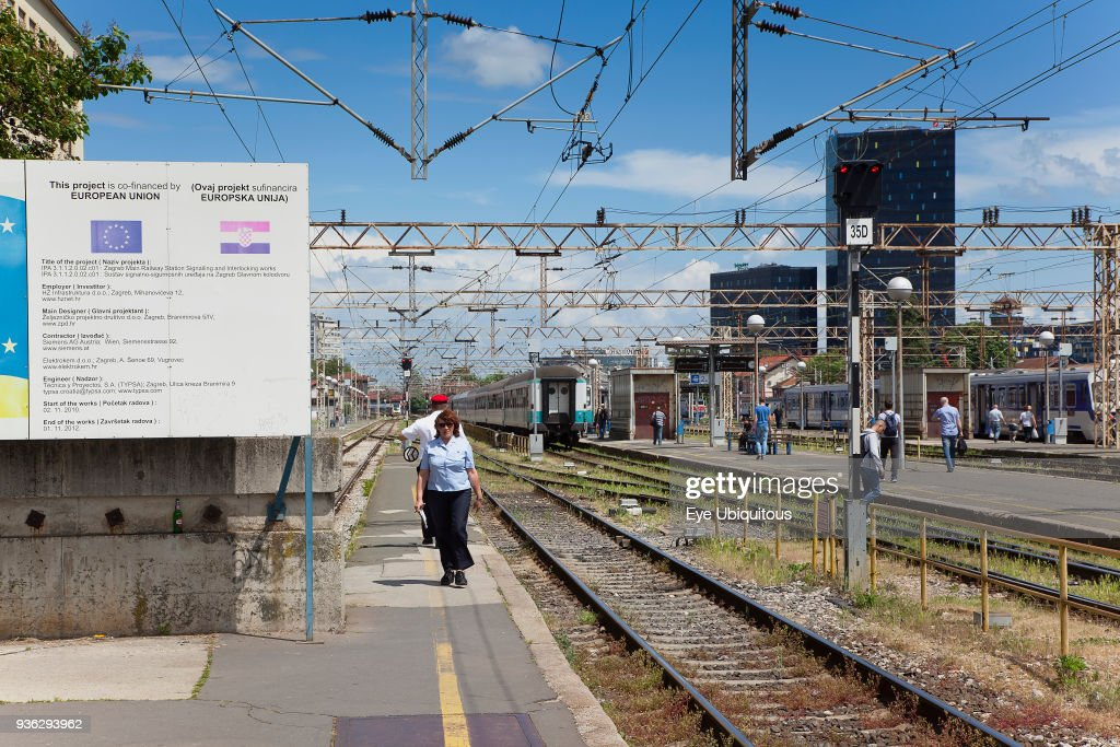 Croatia, Zagreb, Old town, Glavni kolodvor main railway