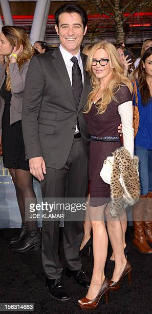 Croatian actor Goran Visnjic and his wife Ivana Vrdoljak arrive to the premiere of Summit Entertainment's 'The Twilight Saga Breaking Dawn Part 2' at...