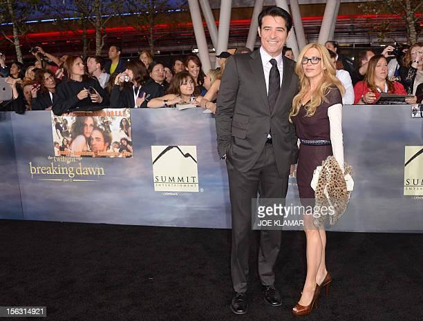 Croatian actor Goran Visnjic and his wife Ivana Vrdoljak arrive to the premiere of Summit Entertainment's 'The Twilight Saga: Breaking Dawn - Part 2'...