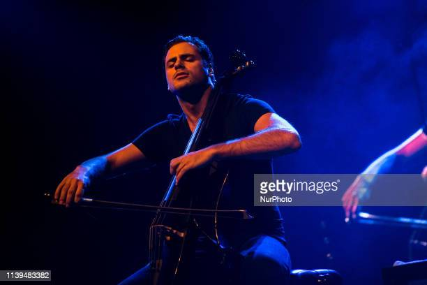 Croatian cellist duo 2Cellos consisting of classically trained Luka uli and Stjepan Hauser performs live at Mediolanum Forum in Milano Italy on...