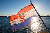 croatian flag aboard cruise ship ms