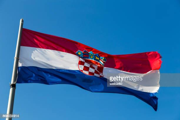 Croatian flag above the Fortica