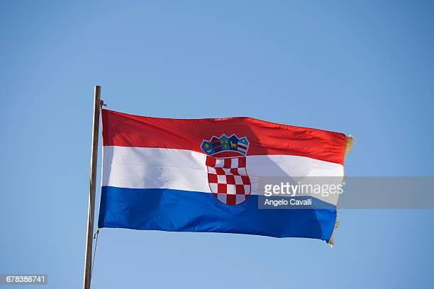 Croatian Flag, Dubrovnik, Croatia, Europe
