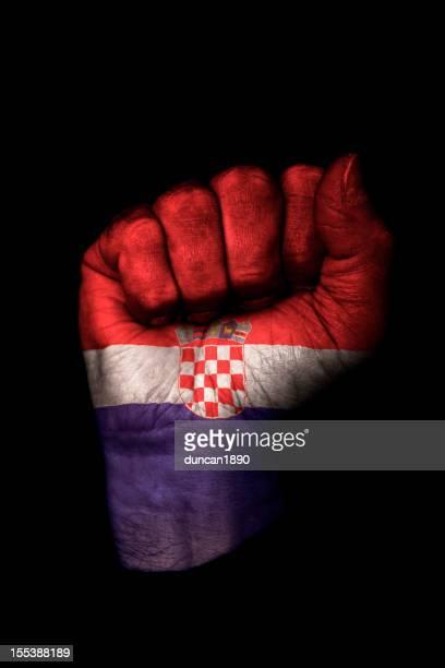 Croatian Flag Fist