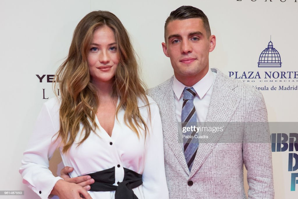 Croatian football player of Real Madrid Mateo Kovacic and wife Izabela Andrijanic attend the 'Hombre De Fe' premiere at Yelmo cinema on May 22, 2018 in San Sebastian de los Reyes, Spain.