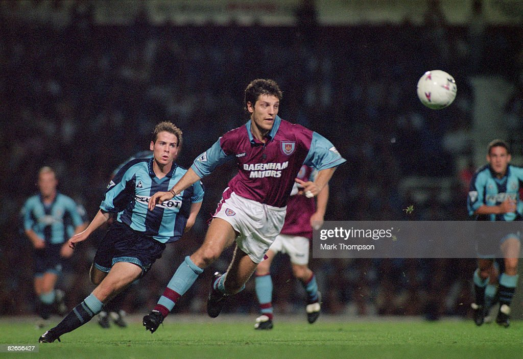 Croatian footballer Slaven Bilic of West Ham United during a Premier League match against Coventry, 21st August 1996. They drew 1-1.