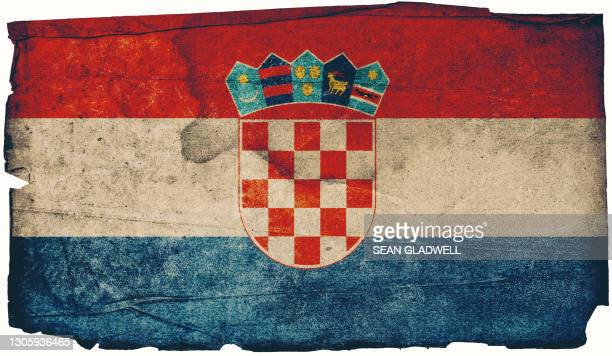 croatian grunge flag - insignia stock pictures, royalty-free photos & images