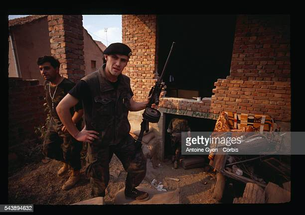 Croatian militia in the ruins of Vukovar