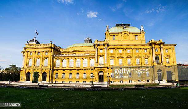 croatian national theatre, zagreb - ogphoto stock photos and pictures