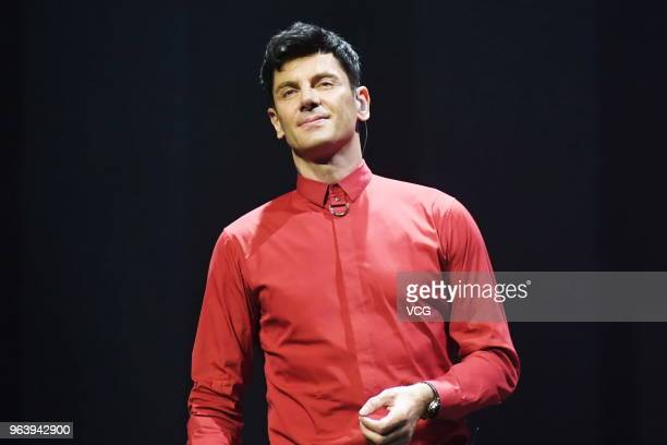 Croatian pianist Maksim Mrvica performs on the stage in concert at Shengjing Grand Theatre on May 30 2018 in Shenyang China