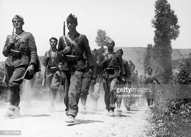 Croatian Proletarian Brigade, Troops Of The Communist Partisans Led By Tito In April 1942 Near Otocac In Bosnia, Territories Already Liberated By The...