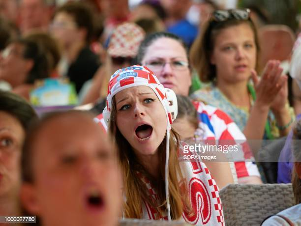 Croatian women seen in disappointment Croatians in the Island of Pag watched the world cup football final match Croatia vs France Croatia lost 24 but...
