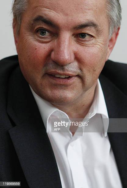 Croatianborn German member of parliament Josip Juratovic speaks to an AFP journalist during an interview in his office at the Bundestag the Lower...