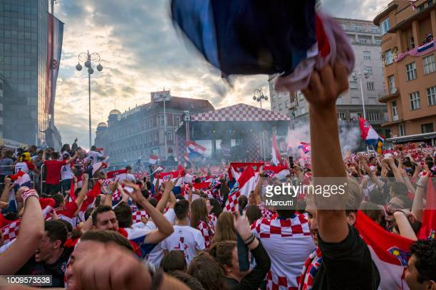 Croatians celebrate second place, silver medal