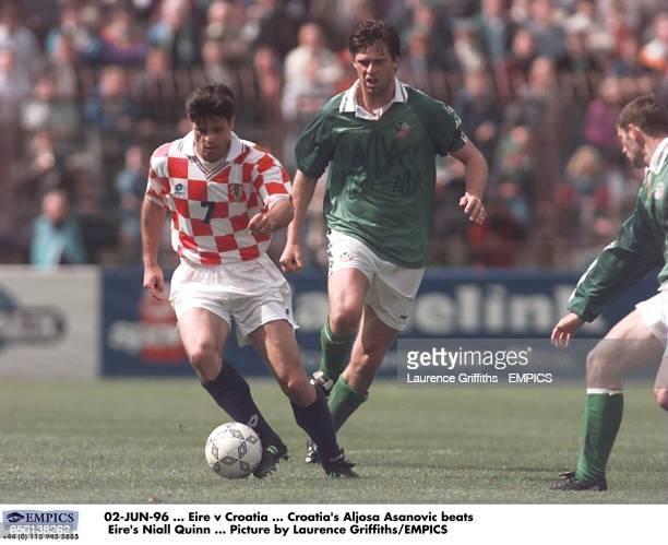 Croatia's Aljosa Asanovic beats Ireland's Niall Quinn