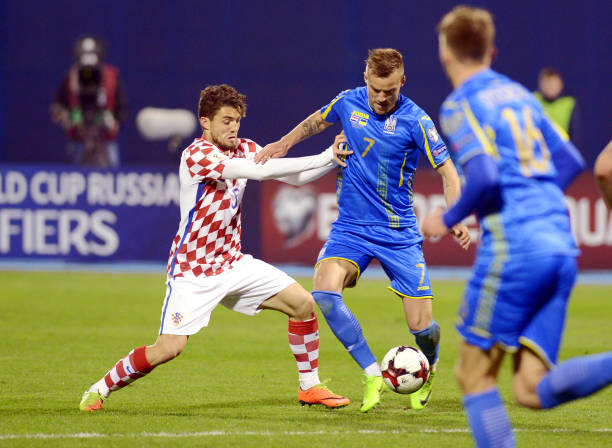 Andriy Yarmolenko is hard to stop once he gets going. (STRINGER/AFP/Getty Images)