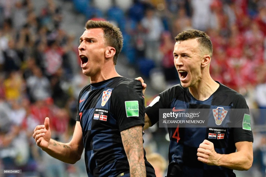 TOPSHOT-FBL-WC-2018-MATCH52-CRO-DEN : News Photo