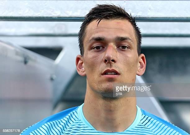 Croatia's goalkeeper Lovre Kalinic is pictured before the friendly football match between Croatia and San Marino in Rijeka Croatia on June 4 2016 /...